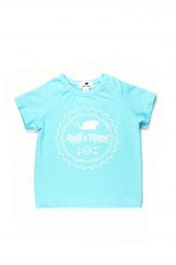 Unisex, blue Rock And Mouse T-shirt for girl, boy, kid, toddler, baby