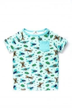 Exploring insects t-shirt with pocket for /kids/girl/boy/baby/toddler/unisex