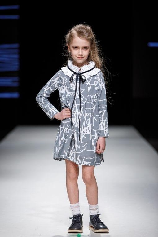 First art collar dress Anna for kid, girl, toddler, baby