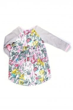 Pink expressions dress for toddler, kid, girl