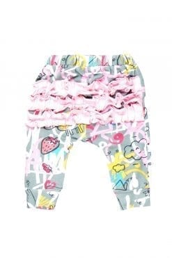 Pink expressions ruffle pants for baby girl, boy, kid