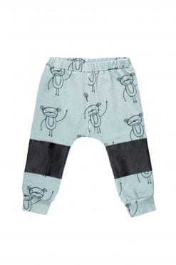 Happy Monkeys unisex pants with elastic waist for kid, girl, boy, toddler.