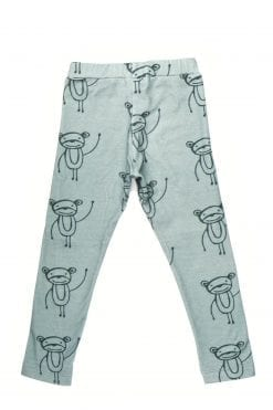 Happy monkeys unisex leggings for kid, toddler, baby, girl, boy