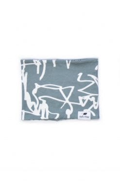 Unisex first art print infinity scarf for kids, toddler, boys and girls, babies