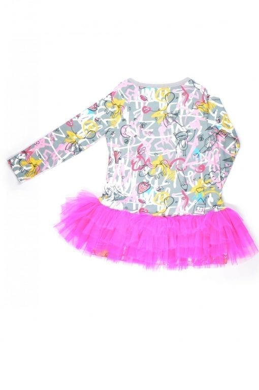 Pink expressions tutu tunic-dress for kid, toddler, girl