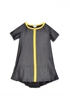 Leather look tunic-dress Alise for kid, toddler, girl