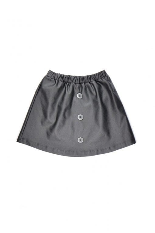 Leather look skirt with buttons for kid, toddler, girl