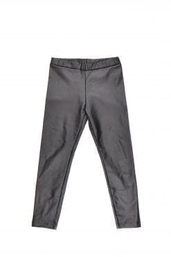 Leather look unisex leggings for kid, toddler, baby, girl, boy