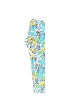 Blue expressions unisex leggings for kid, toddler, baby, girl, boy