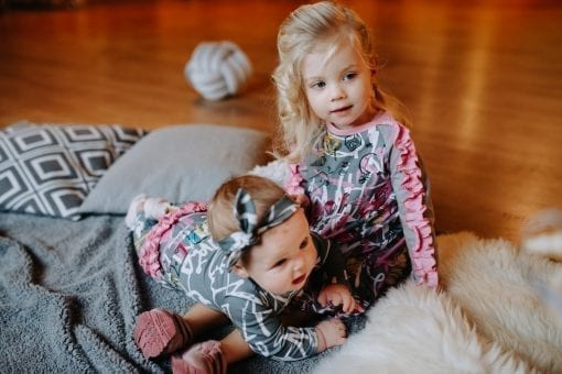 Colourful, creative pink expressions print outfits for baby and toddler girls, kids