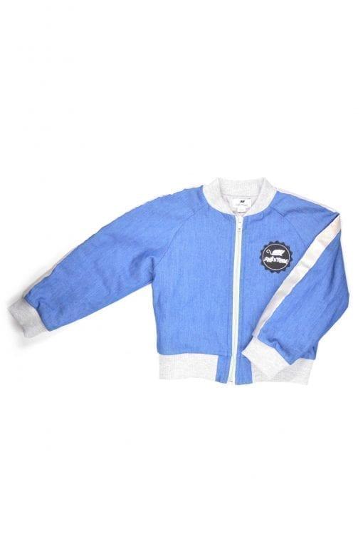 Unisex denim bomber jacket for toddlers, girls boys, kids