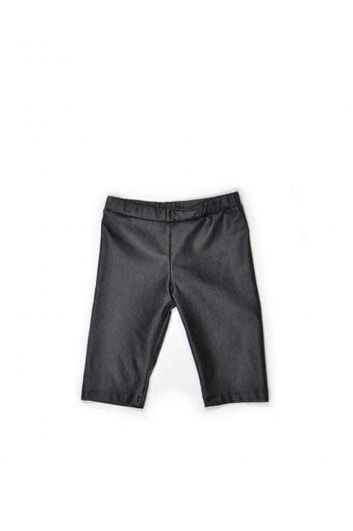 Unisex leather look biker shorts for kids, toddlers, boys, girls, babies