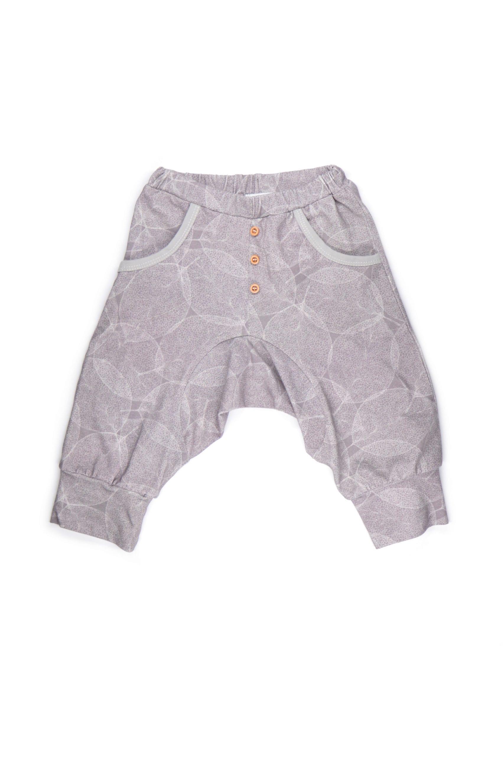 Dark leaf harem shorts for toddlers, boys, unisex, girls, baby