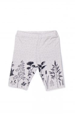 Unisex monochrome flower print biker shorts for kid, girl, boy, toddler, baby