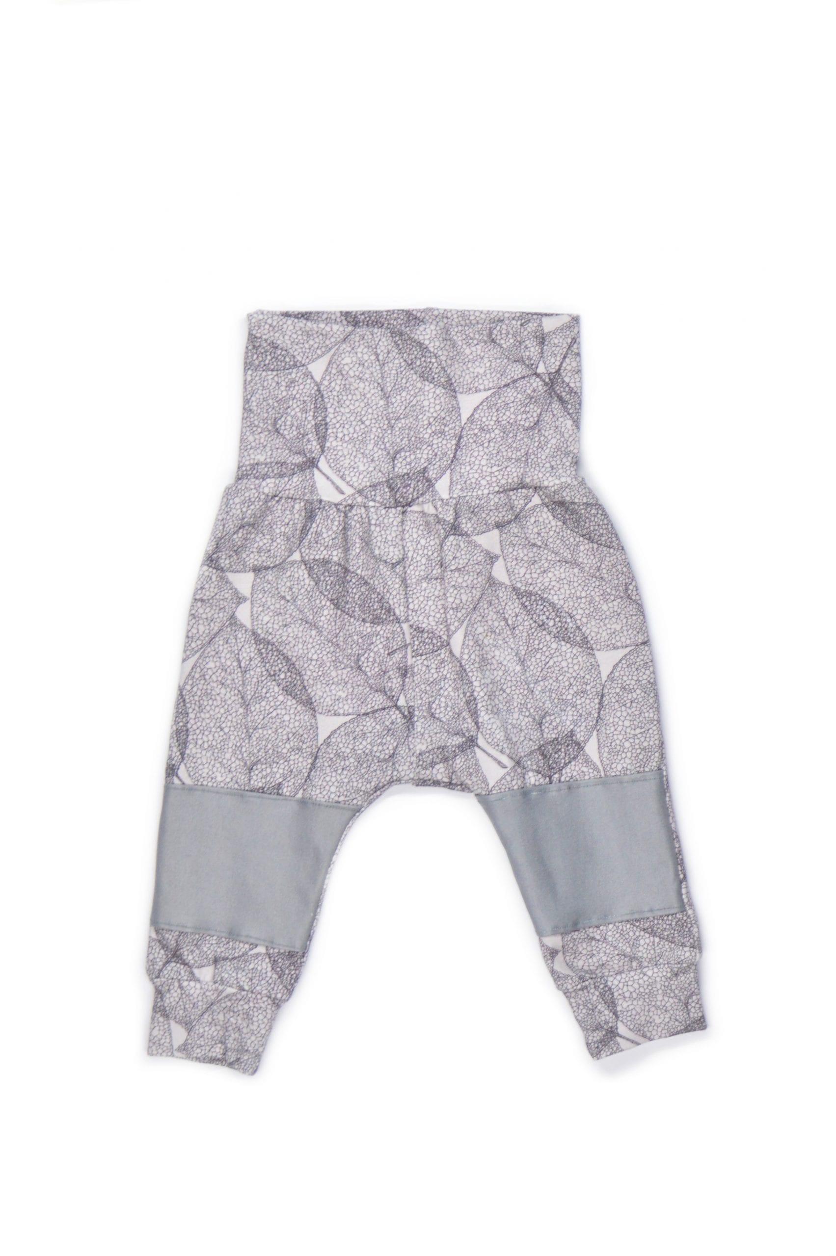 Unisex leaf print harem pants fot baby, kid, girl, boy, toddler