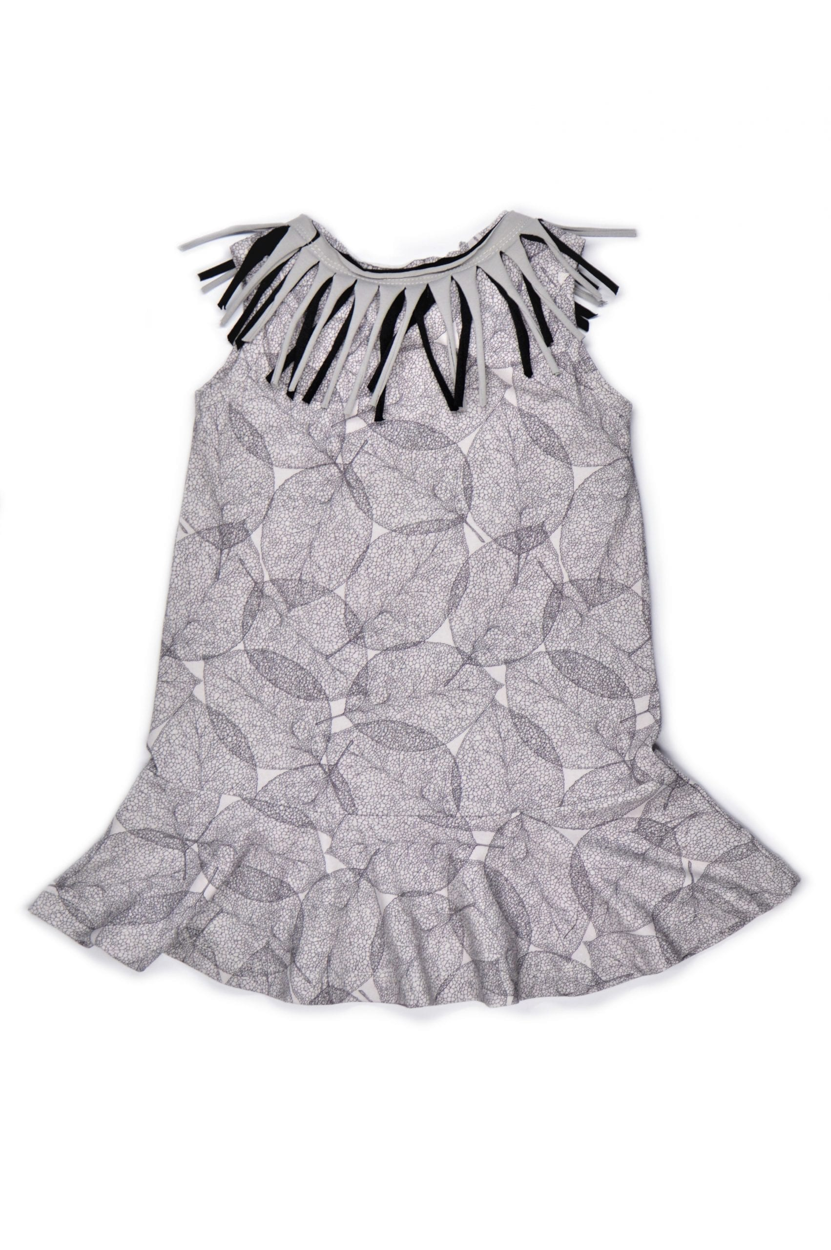 Leaf dress with fringe for toddler, girl, kid, baby