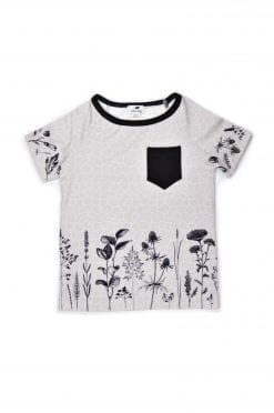 Unisex Monochrome flower shirt for kid, boy, girl, toddler, baby