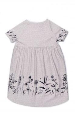 Monochrome flower t-shirt dress for kid, girl, baby