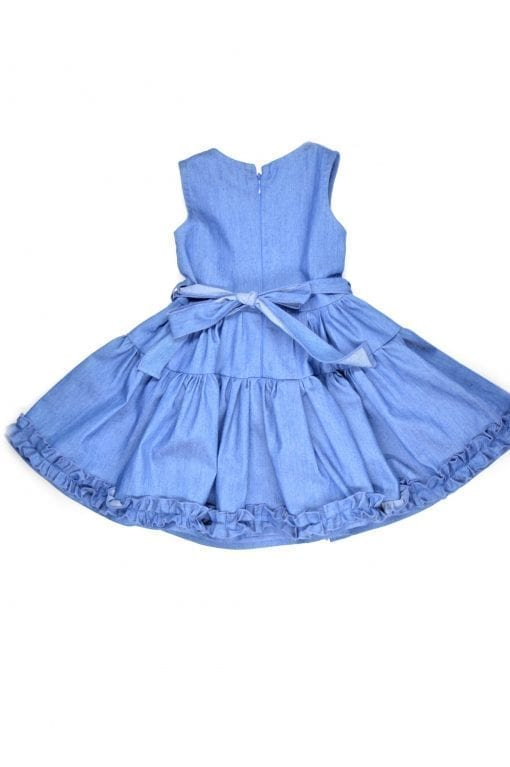 Denim full skirt dress for toddler, girl, kid