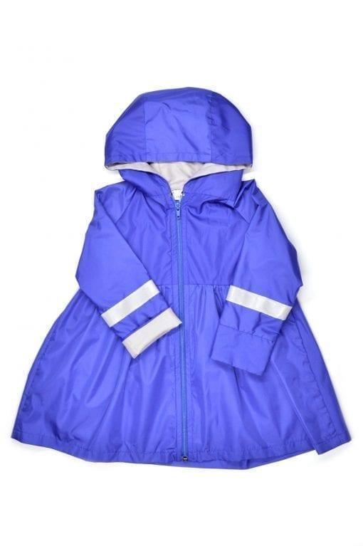 Blue girl, toddler, baby rain parka - coat