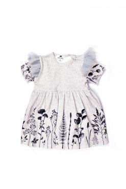 Baby girl summer bodysuit dress with tulle wings for kids