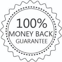 Money back guarantee logo badge for Rock And Muse kids, toddler, girl boy and baby clothing brand