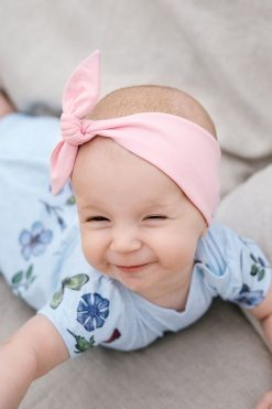 Pink knot headband for kids, baby girls
