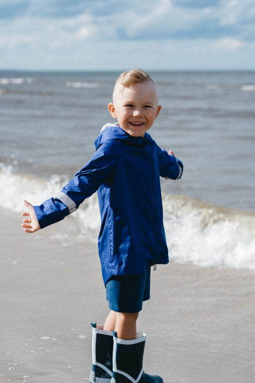 Blue summer raincoat - rain parka for kids, toddlers, boys and girls