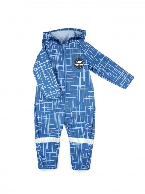 Blue soft shell jumpsuit with