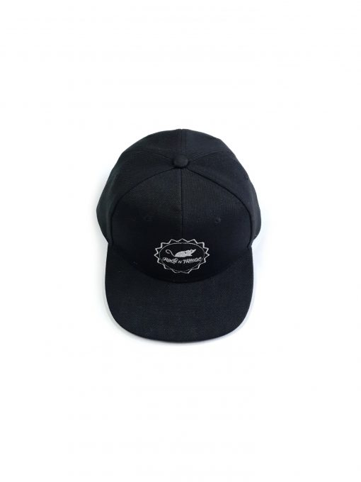 Unisex adjustable Rock And Mouse logo snapback hat for kids, toddlers, boys and girls