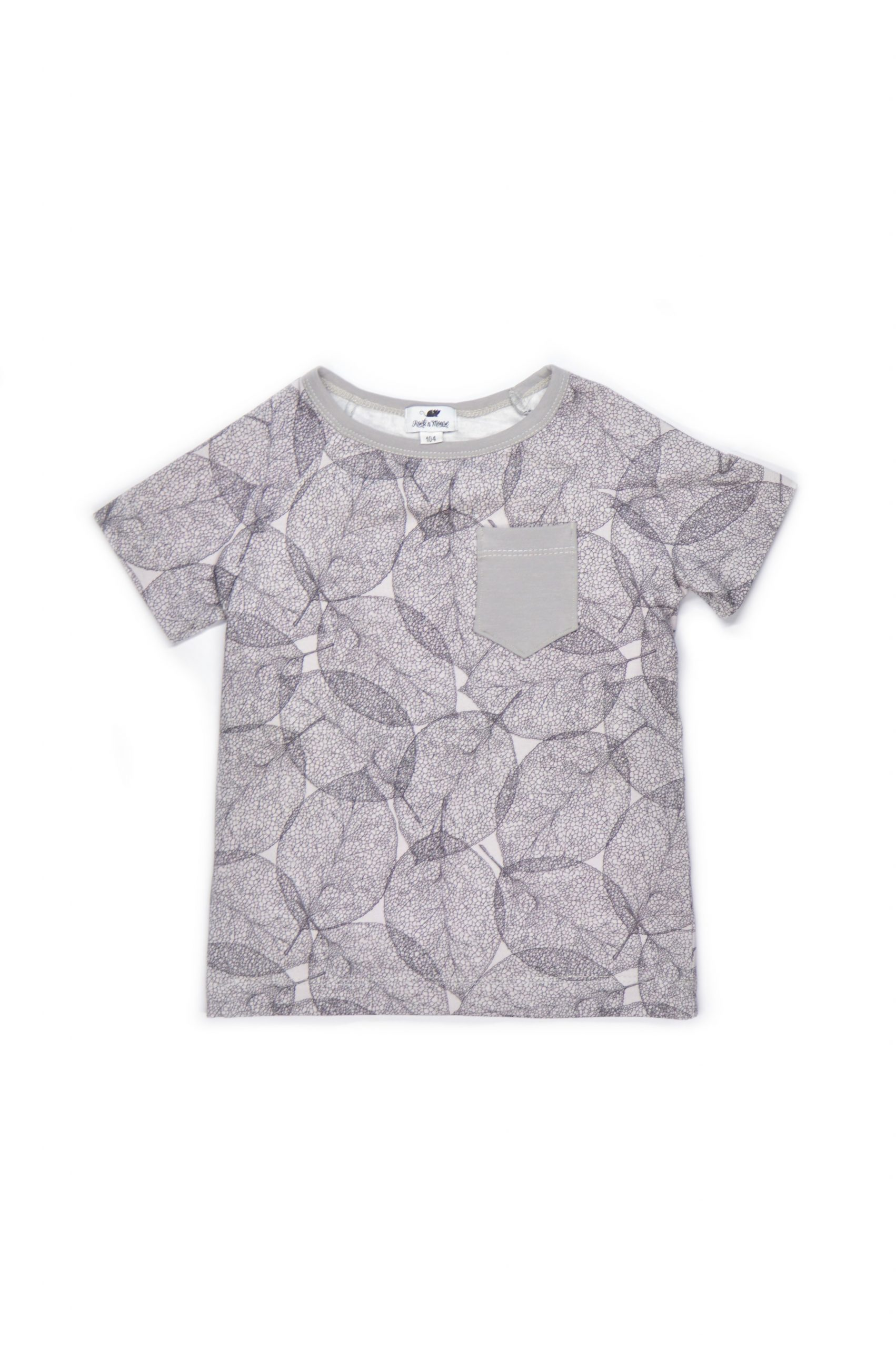 Unisex Dark leaf T-shirt for kids - toddler and baby boys and girls