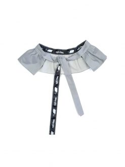 Toddler girl kids grey ruffle belt