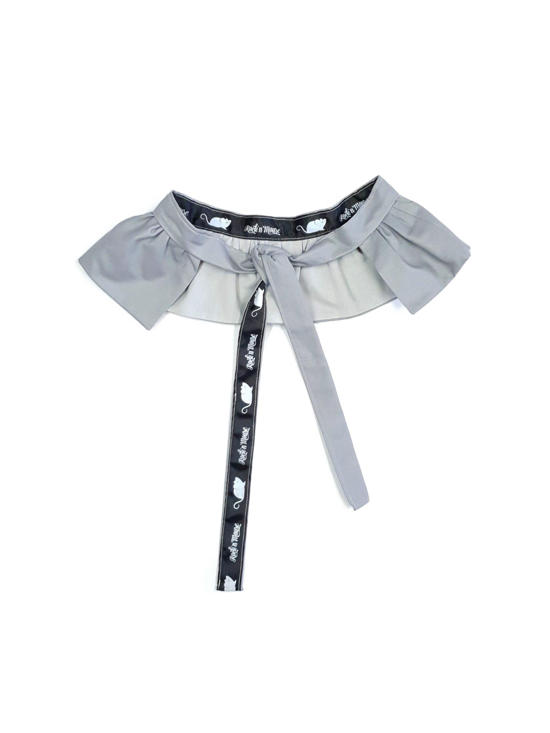 Toddler girl kids grey ruffle belt