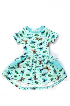 Exploring insects ruffle dress Maria for kids, toddlers, baby, girl
