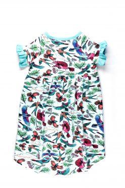 Birdwatching t-shirt dress Sabine for kids, girl, baby, toddler