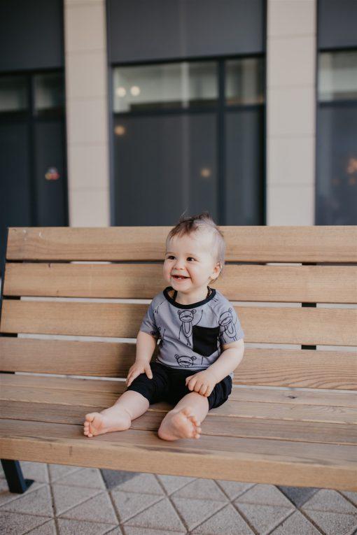 Happy Monkeys unisex T-shirt for kids, toodler boy, girl, baby
