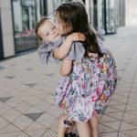 Toddler, baby, kids, girl dresses with pink expressions prints and tulle wings