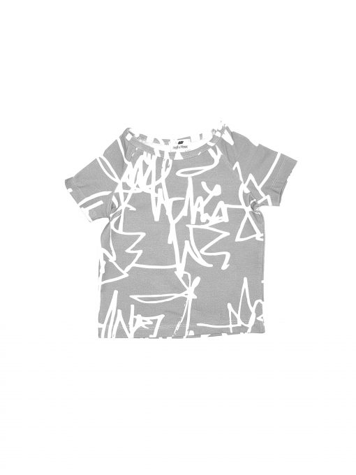 First art print monochrome unisex kids, toddler, girl, boy, baby T-shirt