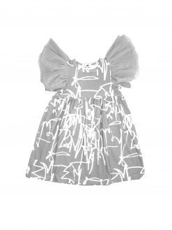 First art print tulle wing dress for kid, girl, baby, toddler