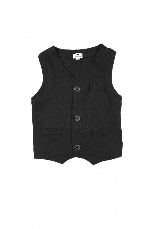 Elegant black vest for boy, toddler, kid