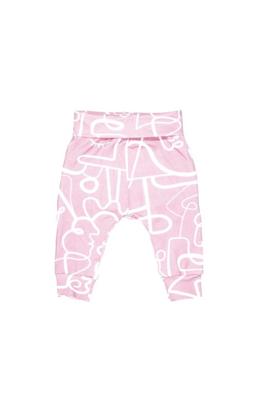 Pink faces ruffle pants for kid, baby, girl, toddler