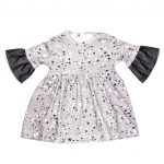 Monochrome baby bodysuit dress for girls, kids